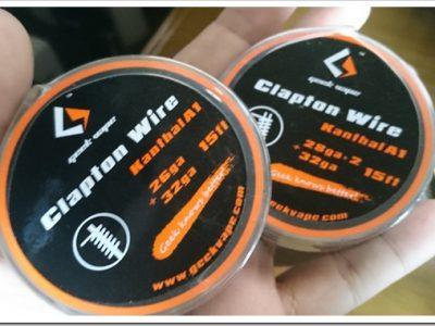 DSC 0027 thumb255B2255D 2 400x300 - 初クラプトンコイルビルド!「Geek Vape Clapton Wire」でSubtank MiniのRBAを巻いてみた