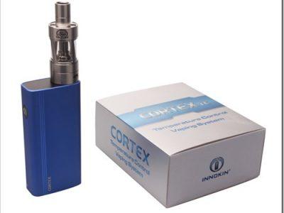 Innokin CORTEX TemperatureControl device Blue thumb255B2255D 2 400x300 - 期待の新製品:イノキン期待のTC機、CoretxのTiモードが現状不完全で改善に期待【他のiSubSやAPEX5は優秀】