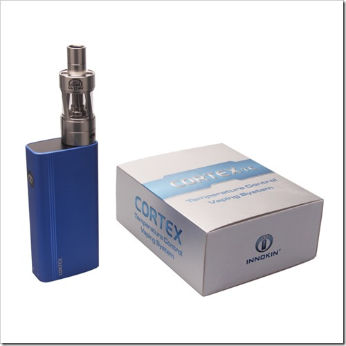 Innokin CORTEX TemperatureControl device Blue thumb255B2255D 2 - 期待の新製品:イノキン期待のTC機、CoretxのTiモードが現状不完全で改善に期待【他のiSubSやAPEX5は優秀】