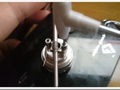 DSC 1305 thumb255B2255D 2 400x300 - 【ビルド】Wotofo Serpent RTAがアトマイザーショートしたのでコイル巻きなおした話