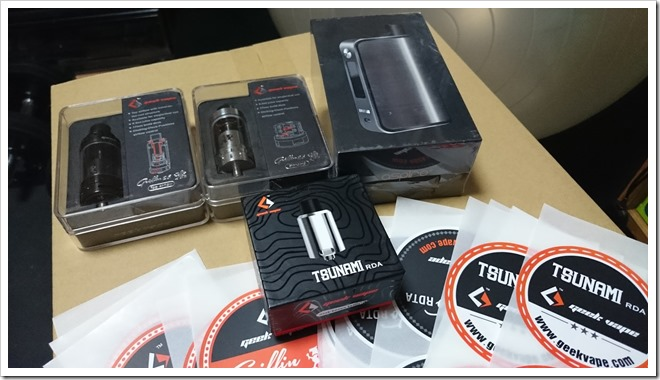 DSC 1511 thumb255B2255D 2 - 【新製品】Geekvape Griffin 25 Top Airflow2種と、Aspire Plato All in one kit到着のコト。
