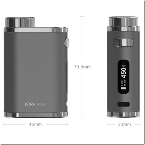 istick pico kit 17 1255B6255D 2 - 【MOD】Mini Voltキラーなるか!?Eleaf iStick Pico Mod単体も26.99ドルで登場
