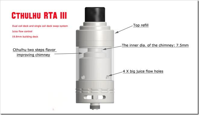 1255B5255D 2 - 【RTA】大ヒットアトマイザーであるCthulhu RTA V3がリリース予定!