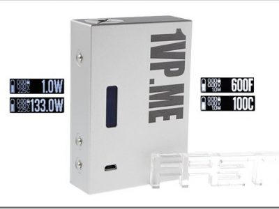 4718500 8255B5255D 2 400x300 - 【MOD】133WまでのTC機「SXK 1VP.ME 133W TC VW APV Box Mod」と便利なVAPE道具バッグの新製品【DNA200搭載機】