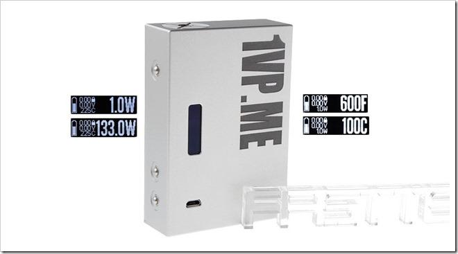 4718500 8255B5255D 2 - 【MOD】133WまでのTC機「SXK 1VP.ME 133W TC VW APV Box Mod」と便利なVAPE道具バッグの新製品【DNA200搭載機】