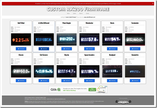 FireShot2520Capture252062520 2520Custom2520RX2002520Firmware2520 2520http www.rx200firmware.com 255B5255D 2 - 【TIPS】WISMEC Reuleaux RX200およびJoyetech Cuboid用カスタムファームウェアまとめサイトが発足される