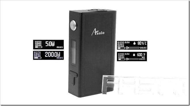 3634100 10255B5255D 2 - 【海外】 疑似カンタル温度管理の名機「IJOY Asolo 200W TC VW」、HCの新リキッド「ARA!MAXシリーズ」各種