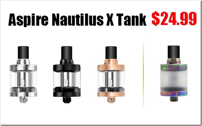 Catch0289255B5255D 2 - 【アトマ】Aspire Nautilus X Sub Ohm Tank With U-Tech Coil - 2 ML