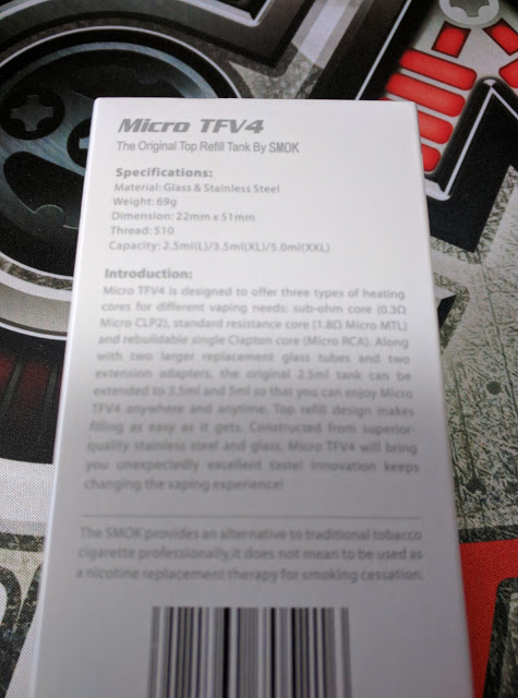 IMG 20160508 120142 2 - 【クリアロマイザー・タンク】SMOK / MICRO TFV4 + RBAユニット レビュー 【多彩なオプション・爆煙味わい自由自在】