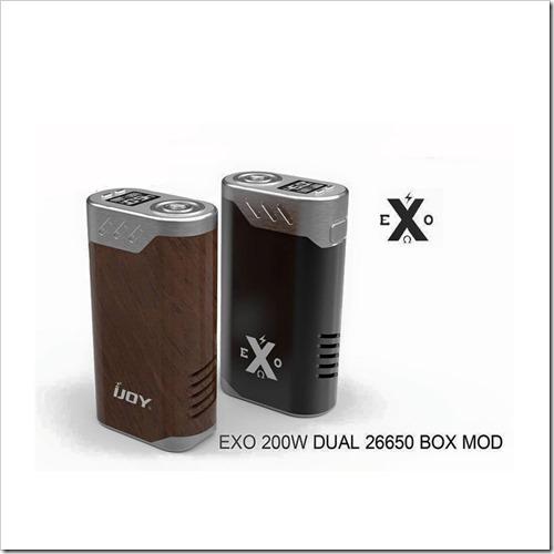 ijoy exo 200w dual 26650 box mod255B6255D 2 - 【変態MOD】またやった!iJoyからiJOY EXO 200W 26650デュアルTCBOXMOD【疑似カンタル温度管理】