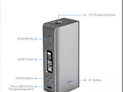 smok koopor mini 2 80w tc box mod 3255B6255D 2 400x300 - 【MOD】 Smok Koopor Mini 2 80W TC Box Mod-2600mAh内蔵バッテリー、DNA75搭載SMY SDNA75Wが5688円~【DNA基板】