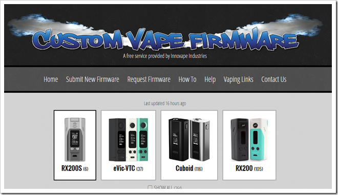 FireShot2520Capture252072520 2520Custom2520Firmware2520for2520Vape2520Mods2520I2520RX200252C2520Cu 2520 2520http www.customvapefirmware.com 255B5255D 2 - 【SOFT】カスタムファームウェア配布サイト「CUSTOM VAPE FIRMWARE」の紹介【VTC Mini、Cuboid、RX200S、RX200】