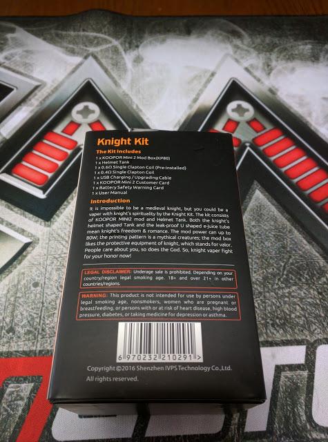 IMG 20160626 131529 2 - 【SMOK 新作キット】SMOK knight kit KOOPOR MINI 2+HELMET TANK レビュー 【最新系温度管理・コンパクトボディ】