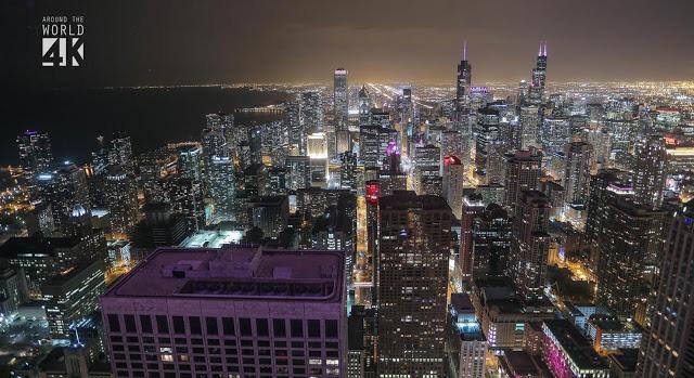 chicago illinois night view 2 - 【VAPE TIMEに絶景を】 VAPE TIMEに4K世界の動画でリラックスVAPE+ゲームニュースCOD:IW 悲惨ニュースなど【4K動画・COD(コール オブ デューティ)ゲームニュース】