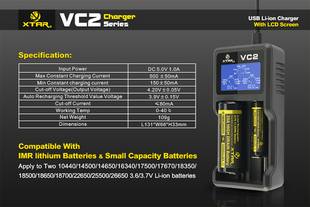 imgrc0063895373 2 - 【XTAR VC2】バッテリーチャージャー XTAR VC2 2本同時充電タイプ+おまけゲーム情報(CoD、ミラーズエッジカタリスト)まとめなど【バッテリーチャージャー、充電器】