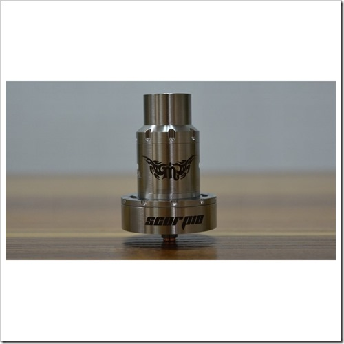 rulien scorpio rdta rebuildable dripper tank atomizer silver authentic 3 255B5255D 2 - 【新製品】自動コイル巻機Pilot Vape Coil Magician Automatic Coil Jigとボトムフローデザインが変わったRulien Scorpio RDTA【ジオングっぽい】