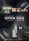 Eleaf/iStick PICO 限定版KIT 武士道/NAVYモデル (Stainless Steel/Matte Black)INR18650-25Rバッテリー&&Vethos Design Battery Caseセット (海軍-NAVY-, Stainless Steel)