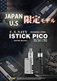 Eleaf/iStick PICO 限定版KIT 武士道/NAVYモデル (Stainless Steel/Matte Black)INR18650-25Rバッテリー&&Vethos Design dropper bottelセット (海軍-NAVY-, Stainless Steel)
