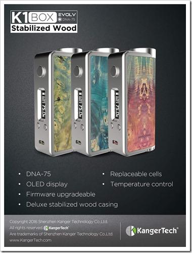 ItfRGQa thumb255B2255D 2 - 【DNA75】Kangertech製「K1BOX Stabilized Wood」Evolv DNA75搭載スタビウッドモデル【ハイエンドMOD】追記:価格94.85ドル?(Efun 69ドル)