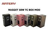 Artery アーテリー Nugget ナゲット TC 極小 BOX MOD VW サブオーム対応 温度管理機能付き 電子タバコ VAPE (Silver/シルバー)