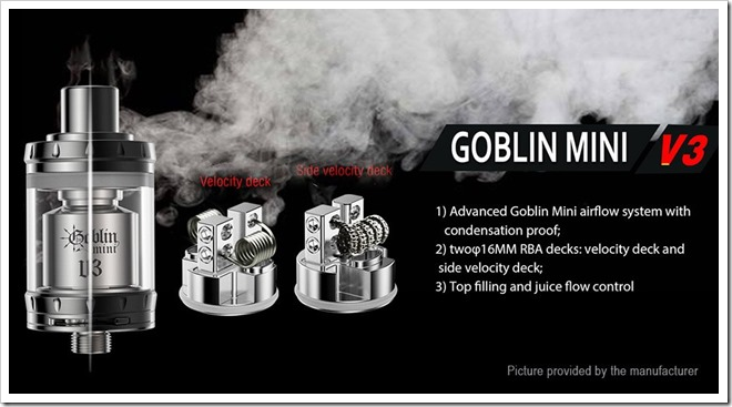 5435801 7255B5255D 2 - 【RTA】UDのゴブリンミニV3「Youde UD Goblin Mini V3 RTA」【2タイプの16mmベロシティデッキ】