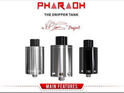 digiflavor pharaoh the dripper tank title255B6255D 2 400x300 - 【RDA】王者の貫禄!「Digiflavor Pharaohドリッパータンク」レビュー!組めないコイルなしドデカデッキ【爆煙エジプト王国】
