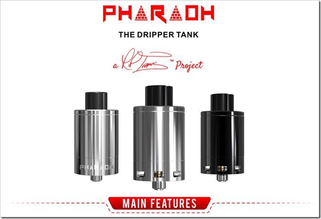 digiflavor pharaoh the dripper tank title255B6255D 2 - 【RDA】王者の貫禄!「Digiflavor Pharaohドリッパータンク」レビュー!組めないコイルなしドデカデッキ【爆煙エジプト王国】
