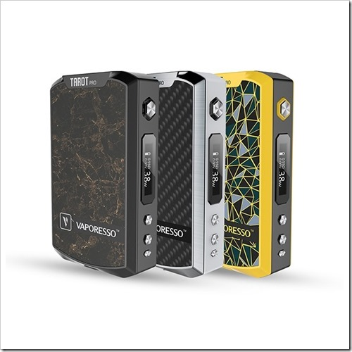 vaporesso tarot pro vape mod 1 thumb255B2255D 2 - 【MOD】「VAPORESSO TAROT PRO 160W BOX MOD」レビュー。160W高級感ありデュアルバッテリーMOD「ひと味…違うのね」追記:5オーム検証