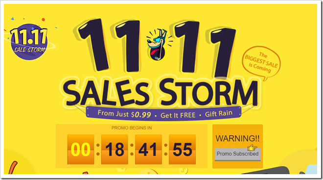 SALESSTORM thumb255B2255D 2 - 【NEWS】海外ショップGearBestに日本向け低価格・高速配送「Japan Express」追加。4-9営業日で到着&SALES STORM開催11月11日まで詳細