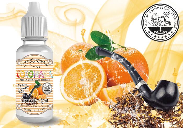 orange cigar 1 - 【自作リキッド】COCOKARAに新製品おもてなしフレーバー追加!!スポーツドリンク、抹茶、ゴールドコーヒー、シークワーサー、オレンジシガー、ココナッツ、マロンフレーバー