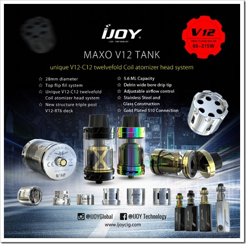 Catch thumb2 3 - 【新製品】「28mm IJOY MAXO V12 TANK」「Joyetech UNIMAX 22/25スターターキット」「Teclast X24 Air AIOデスクトップPC」