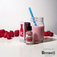 Strawberry MYLK by Brewell medium 2 - 【リキッド】「Strawberry by MYLK by Brewell Vapory」リキッドレビュー!【いちごミルク味】