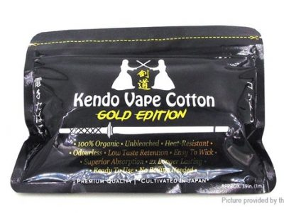 7354501 2 thumb255B2255D 2 400x300 - 【海外】「Kendo Vape Cotton」「Kendo Vape Cotton (Gold Edition)」「ADVKEN Mad Hatter 24キット」「ADVKEN gorge RDA」「Wotofo Serpent RDTAゴールド等」