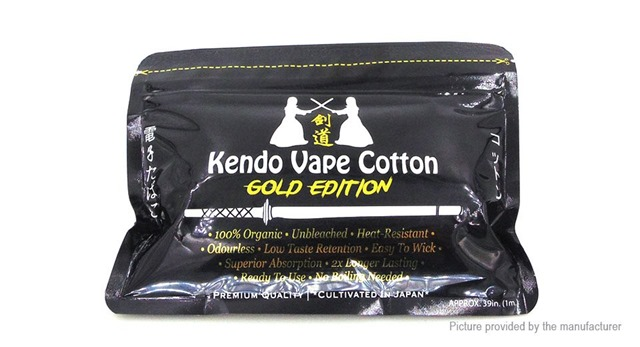 7354501 2 thumb255B2255D 2 - 【海外】「Kendo Vape Cotton」「Kendo Vape Cotton (Gold Edition)」「ADVKEN Mad Hatter 24キット」「ADVKEN gorge RDA」「Wotofo Serpent RDTAゴールド等」