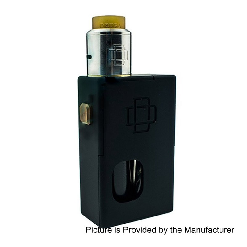 Augvape Druga Black 5ml Squonk Box Mod + 22mm RDAキット