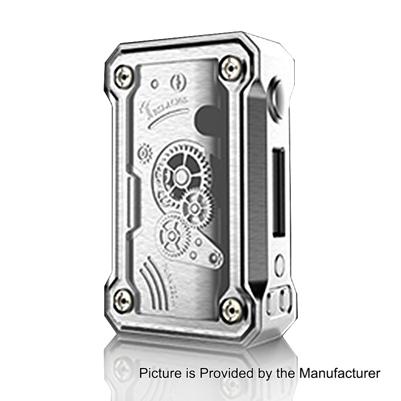 authentic tesla punk 220w tc vw variable wattage box mod silver zinc alloy abs pc 7200w 2 x 18650 1 - 【海外】「VGME Fossil 200W VV APV Box Mod」「iBuddy i1 Heatingキット」「Tesla Punk 220W MOD」ほか