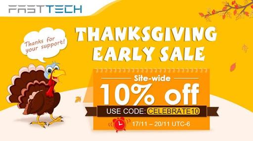 20171116 58a9b6c549d0404a832c097ac2f9cd3e thumb255B3255D - 【セール】FastTech,全商品10%オフの「Thanks Giving Earlyセール」を開催。2017年11月17日~20日まで