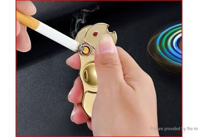 8255500 12 thumb255B2255D 400x278 - 【スピナー/フィジェット】「2-in-1 USB充電式シガレットライターフィジェットハンドスピナー」レビュー。回すだけじゃなくて光る&電子ライターにも。父の日のプレゼントに最適