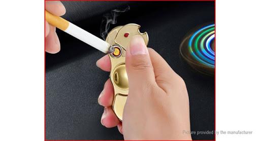 8255500 12 thumb255B2255D - 【スピナー/フィジェット】「2-in-1 USB充電式シガレットライターフィジェットハンドスピナー」レビュー。回すだけじゃなくて光る&電子ライターにも。父の日のプレゼントに最適