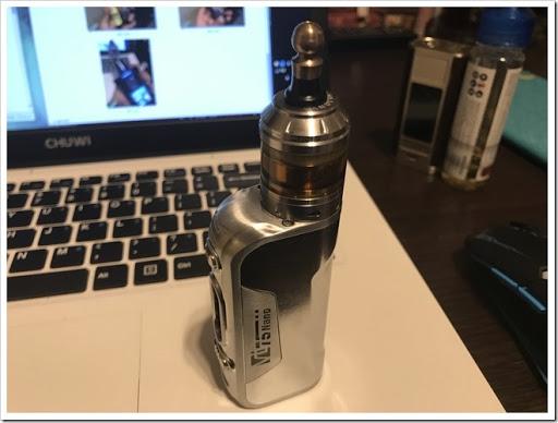 IMG 5911 thumb - 【DNA搭載モデル】Hcigar VT75 Nanoレビュー!小さくて可愛いお手軽ハイエンド機!立ち上がりの速さはさすがなので1台は持っておきたいMODのひとつ?