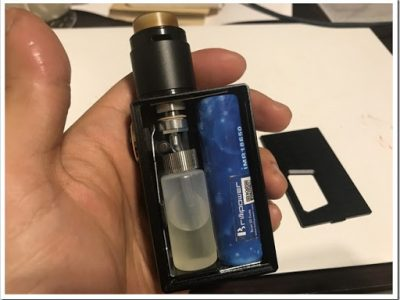 IMG 6193 thumb 400x300 - 【コンパクトで可愛いやつ】Geekvape Athena Squonk Kit with BF RDA-Black(ギークベープアテナスコンクキット)レビュー!小型化されたメカニカルスコンカー!いつでも供給!漏れなしのトップエアフロー!