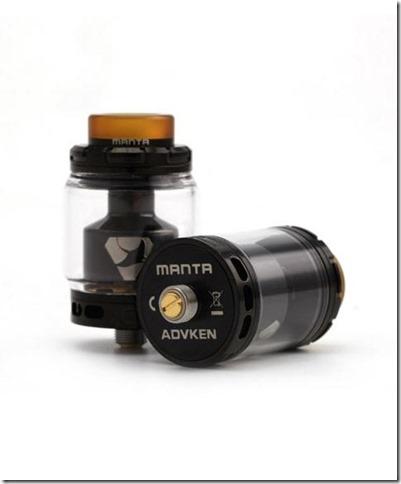 advkenmantarta2 480x580 thumb255B1255D - 【RTA】「Advken MANTA RTA(マンタ RTA)」レビュー。タンク形状が特徴的!しかし予備タンクは。。。【VAPE/RTA/アトマイザー】