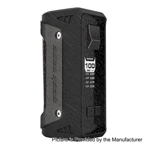 authentic geekvape aegis 100w water proof tc vw variable wattage box mod black zinc alloy 5100w 1 x 18650 26650255B4255D - 【期待の新製品】「GeekVape AEGIS 100W TC BOX MOD」耐衝撃、防水、防塵のMOD!!18650/26650両対応の最高クラスMOD