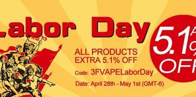banner block thumb255B2255D 400x198 - 【セール】3FVAPEでLABOR DAY SALE、すべての商品が追加5.1%オフ!VCTリキッドとかスタビDNAとかあります【海外ショップ/VAPE】
