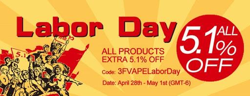 banner block thumb255B2255D - 【セール】3FVAPEでLABOR DAY SALE、すべての商品が追加5.1%オフ!VCTリキッドとかスタビDNAとかあります【海外ショップ/VAPE】