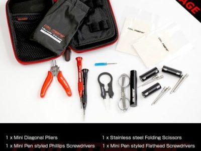 cm diytool mini 2 thumb255B2255D 400x300 - 【DIY/ビルド】「CoilMaster DIY ミニキット」(コイルマスターDIYミニキット)レビュー。簡易VAPEビルド用品とバッグのセットは持ち運びで出先に便利!【小物/工具/VAPE/電子タバコ/VAPE STEEZ/eREC】