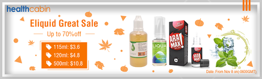 liquid sale thumb255B2255D - 【海外/セール】Health CabinでEliquid Great Sale開催中、最大70%オフ。その他海外新着