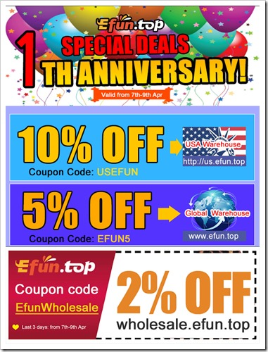 znq 1255B7255D - 【セール】Efun.topが1周年記念セールとして3日間最大10%引きクーポン発行中!