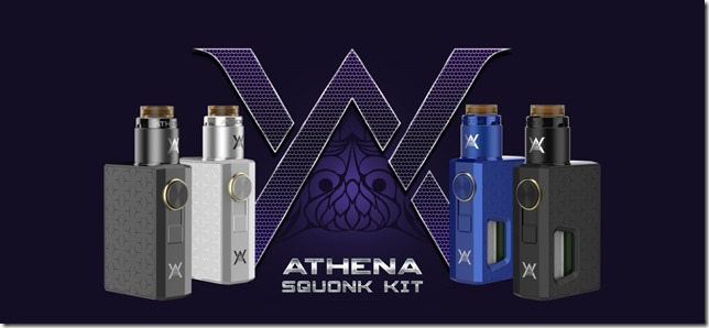 Athena Squonk Kit four colors available thumb - 【レビュー】最近流行りのマスプロ系メカスコ♪GEEK VAPE ATHENA SQUONK MOD(ギークベイプアテナスコンクモッド)【メカニカルMOD】~これはほんとに人をダメにするやつだ(ΦдΦ)編~