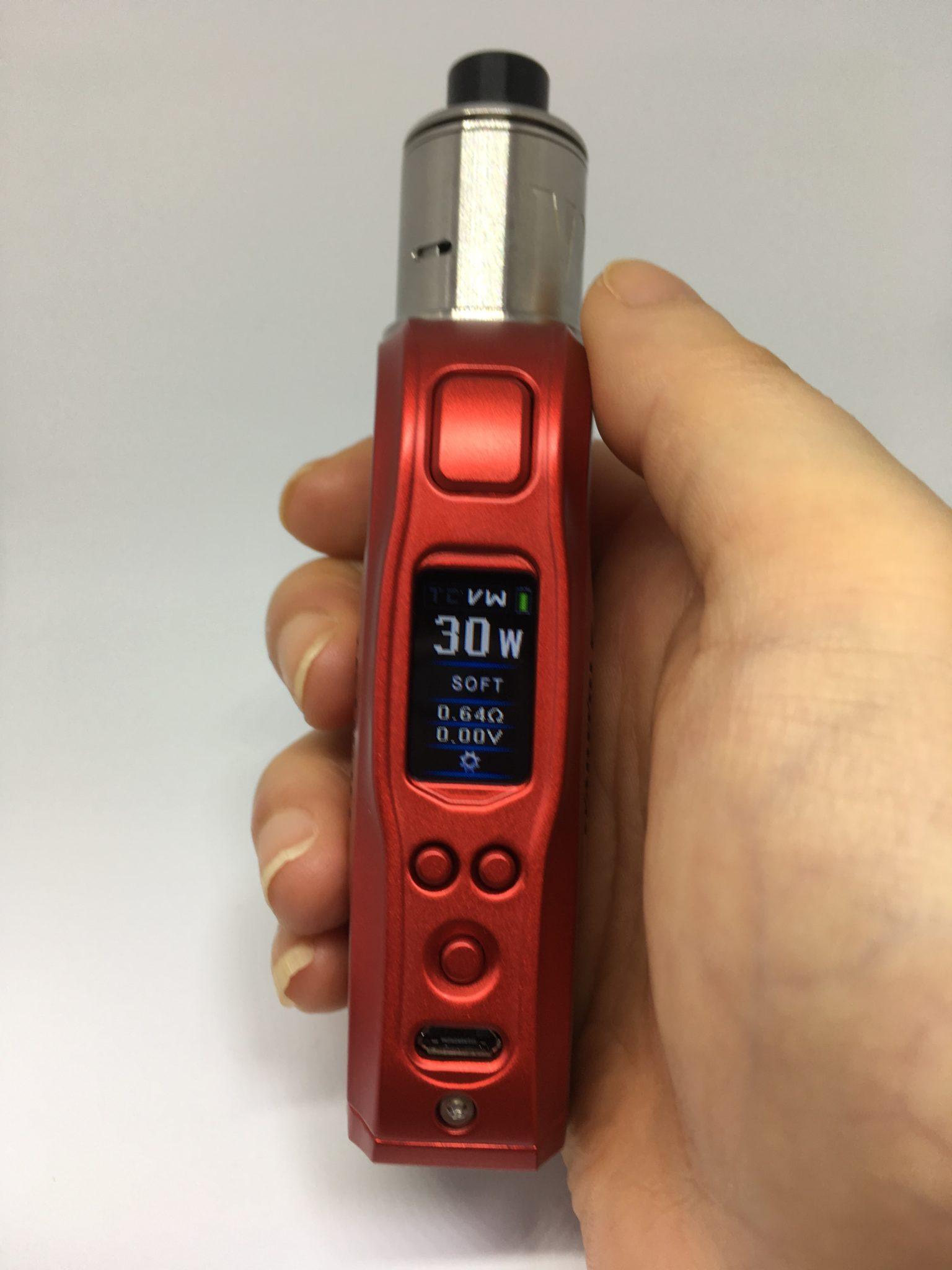 IMG 4657 - 【レビュー】HCIGARの最新作、『WARWOLF 80w』コンパクトなのに多機能高性能!!おまけにカラー液晶が分かりやすくてかなり便利なDNA75レビュー!!【MOD/VAPE/テクニカル】